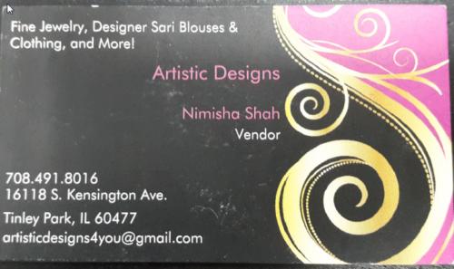 Artistic Designs– Nimisha Shah  Vendor