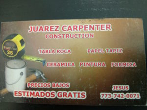 JUAREZ CARPENTER CONSTRUCTION