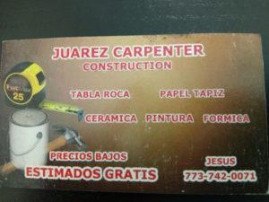 JUAREZ CARPENTER CONSTRUCTION