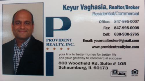 Keyur Vaghasia Realtor/Broker Provident Realty Inc.