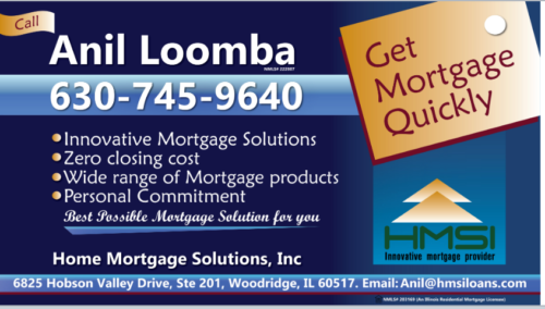 Anil Loomba, Loan Officer Home Mortgage Solutions, INC