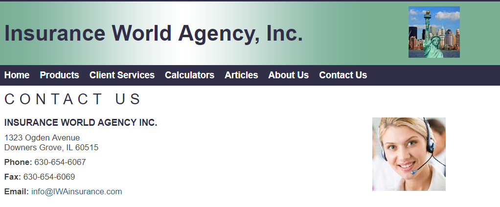 INSURANCE WORLD AGENCY INC.