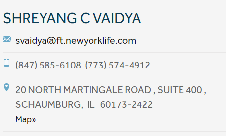 SHREYANG C VAIDYA Life Insurance